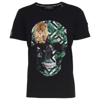 men t-shirt - skull jungle