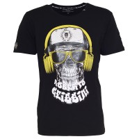 men t-shirt dj skull