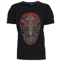 men t-shirt skull red pyramid