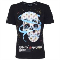 men t-shirt - skull blue bann