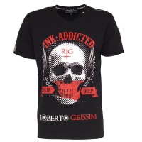 men t-shirt - skull addicted