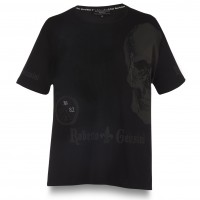 T-SHIRT BLACK DIAMOND SKULL SIMPLE MEN