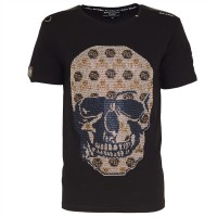 men t-shirt - skull allover