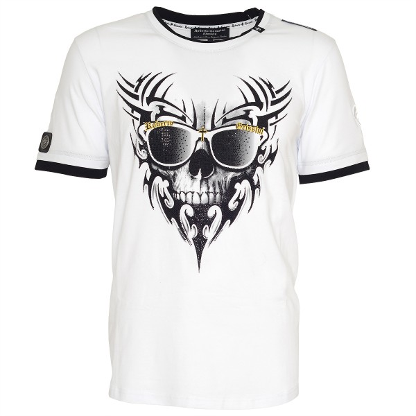 men t-shirt skull beard