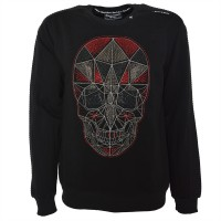 "Mens Sweatshirt - ""techno skull"""