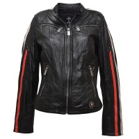 Ladies Leather Jacket dara - Biker Jacket - Black